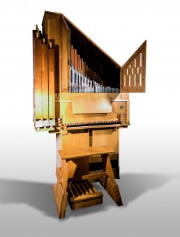 Positive organ, by Gabriel Blancafort (Collbatò, Spain, 1978), [1 keyboard, C-f''', 8'. 4', 4', Nasard, Mixture 4 files]